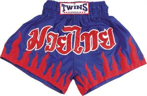 Twins Thai Style Trunks Blue/Flames
